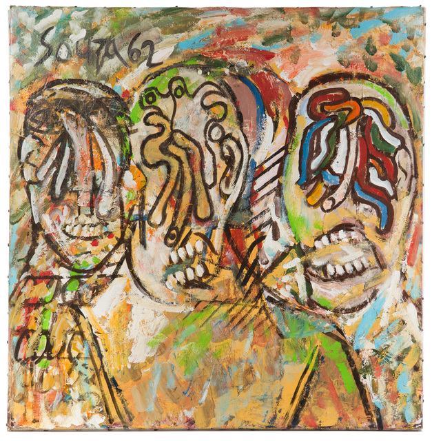 Francis Newton Souza, 'Three Men in a Drunken Haze', 1962, John Moran Auctioneers