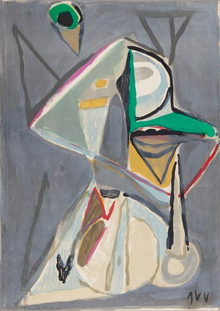 Bram van Velde, ' Composition Grise', ca. 1970, Le Coin des Arts