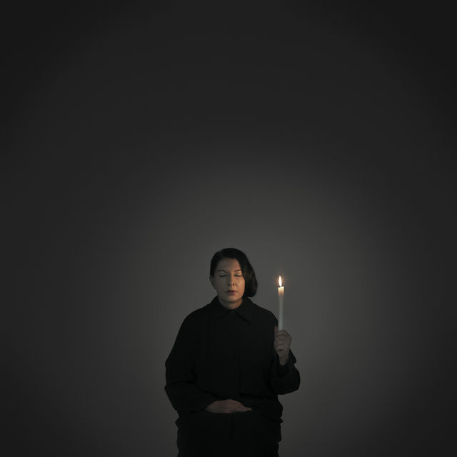 ", 'Artist Portrait with a Candle (A) (from the series ""With Eyes Closed I See Happiness""),' 2012, Galerie Krinzinger"