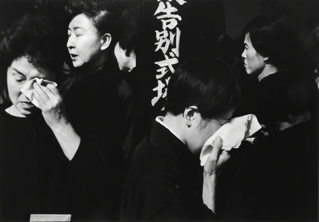 FAREWELL SERVICE FOR THE ACTOR, DANJURO, AOYAMA FUNERAL HALL, TOKYO, 1965