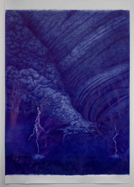 Jan Fabre, 'Berlin/ Tornado's - (VIII)', 1988, Drawing, Collage or other Work on Paper, Bic Ballpoint pen on paper, Templon
