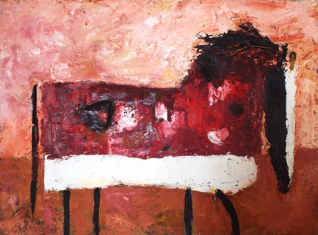 , 'Spotted Horse in Claret Field,' 2016, Carter Burden Gallery