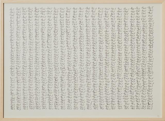 , 'this,' 1993, Cortesi Gallery