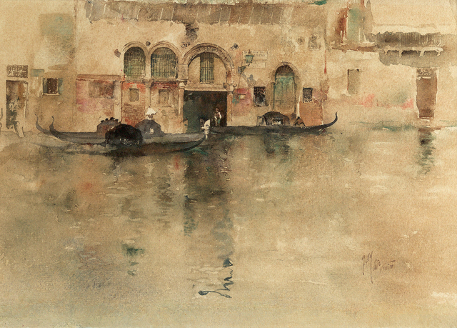 , 'The Traghetto, Venice,' 1880, Questroyal Fine Art