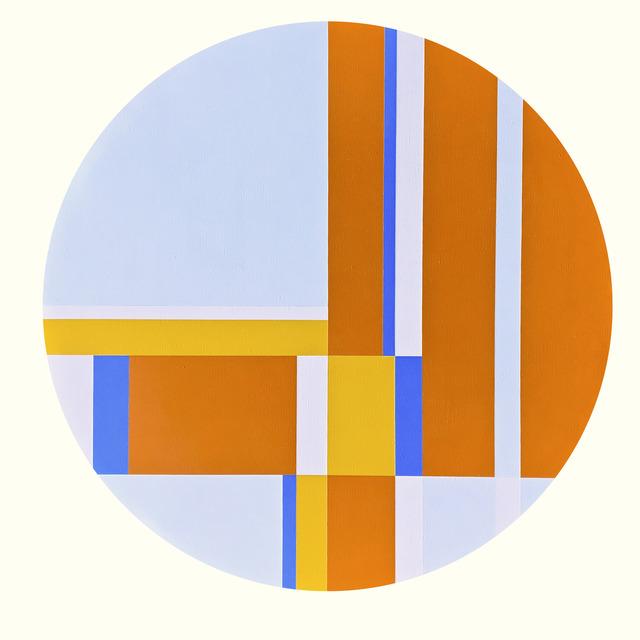 Ilya Bolotowsky, 'Orange, Yellow and Blue Tondo', 1976, Caldwell Gallery Hudson