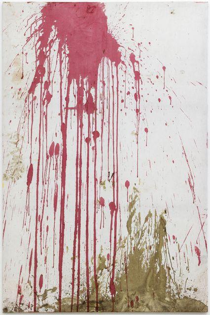 , 'Relikt aus der 122. Aktion, Burgtheater 2005, überschüttet,' 2013, Galerie Elisabeth & Klaus Thoman