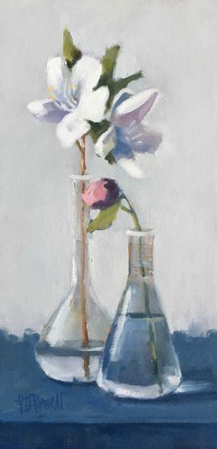 Lesley Powell, 'Beakers with Azaleas and a Bud', 2019, Shain Gallery
