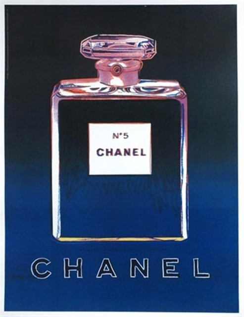 Andy Warhol, 'Chanel No. 5, Offset Lithograph on thin linen canvas (Chanel Advertisements from Paris Buses)', 1997, Alpha 137 Gallery Auction