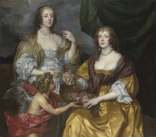 Anthony van Dyck, 'Lady Elizabeth Thimbelby and Dorothy, Viscountess Andover', about 1637, The National Gallery, London