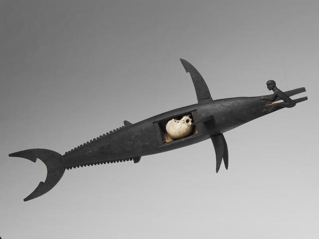 , 'Reliquaire zoomorphe (poisson), crâne (Zoomorphic reliquary (fish), skull),' early 20th century, Musée du quai Branly