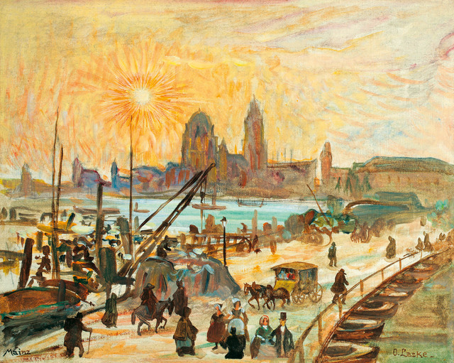 , 'Mainz with a view to the cathedral,' 1920, Galerie Kovacek & Zetter
