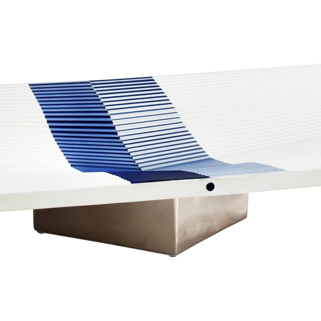 Julio Le Parc, 'Déplacement Sur Plateau Bleu', 2019, Bernardaud