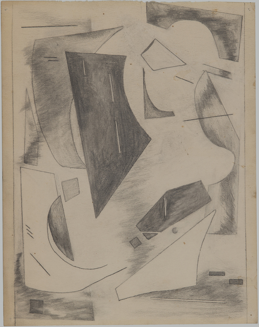 """, 'Drawing for """"Colorstructive Abstraction"""",' 1947, Washburn Gallery"""