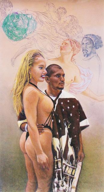 John Valadez, 'Serape and Strings', 2001, Robert Berman Gallery