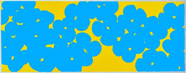 Donald Sultan, 'Wallflowers Light Blue Over Yellow', 2018, International Print Center New York (IPCNY) Benefit Auction