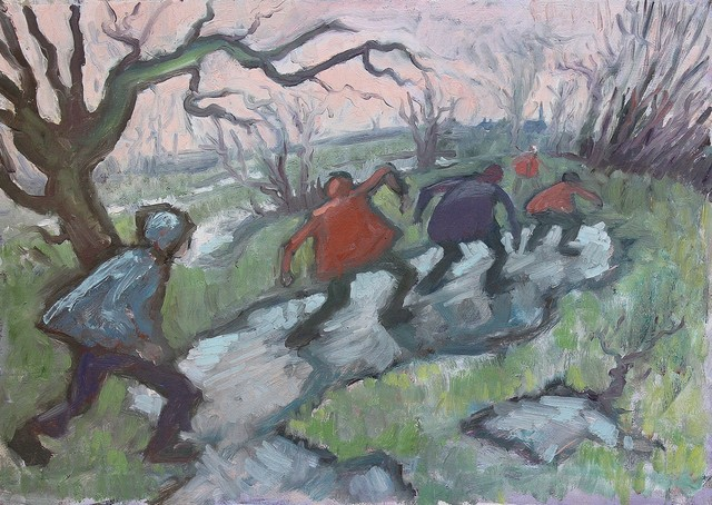 , 'Sliding on ice,' , Castlegate House Gallery
