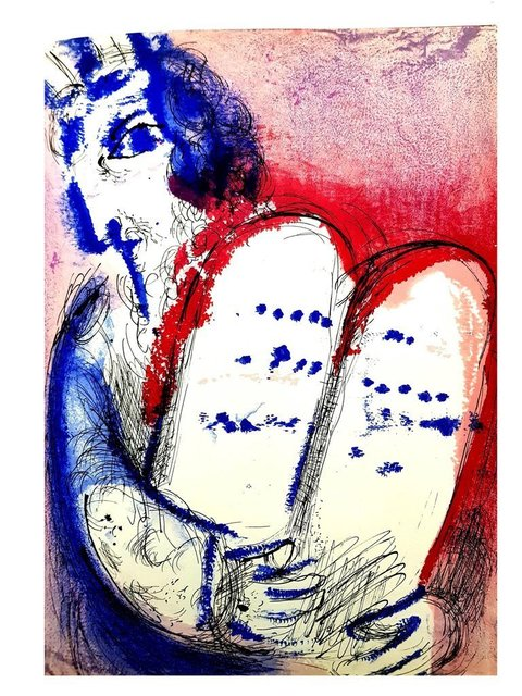 """Marc Chagall, 'Original Lithograph """"Tablets of Stone"""" by Marc Chagall', 1956, Galerie Philia"""