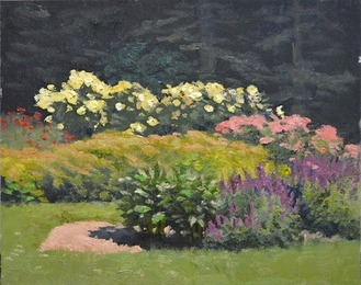 Flower beds afternoon