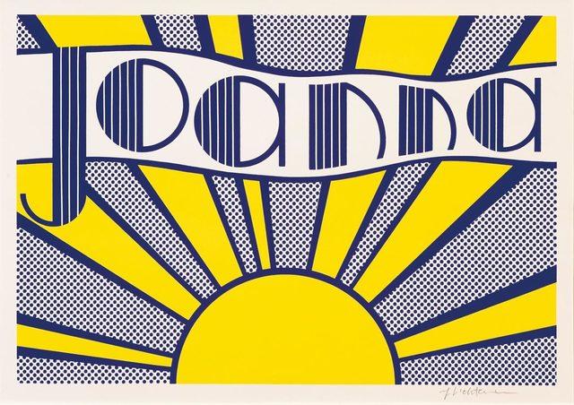 Roy Lichtenstein, 'Joanna', 1968, Print, Colour offsetlithograph, Koller Auctions