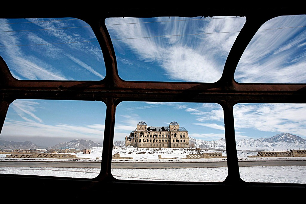 Ruben Terlou Afghanistan  The Royal Palace, Kabul, Afghanistan, 2008, 90 x 135 cm, Inkjet Print mounted to dibond and framed, edition  of 9 + 1AP (in total, regardless of the size), other sizes: 40 x 60 cm, 60 x 90 cm