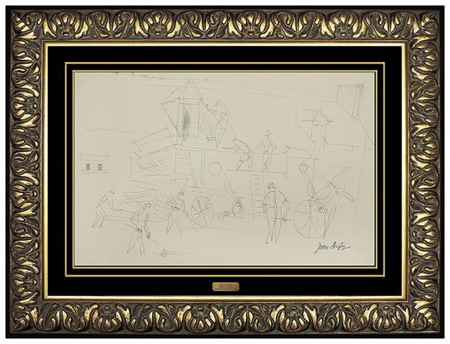 Jean Dufy, 'Jean Dufy Original Graphite Drawing Signed Authentic French Artwork Antique SBO', 20th Century, Drawing, Collage or other Work on Paper, Graphite, Original Art Broker