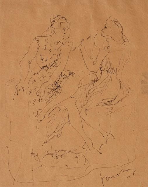 Lucio Fontana, 'Study for figure', 1946, Finarte