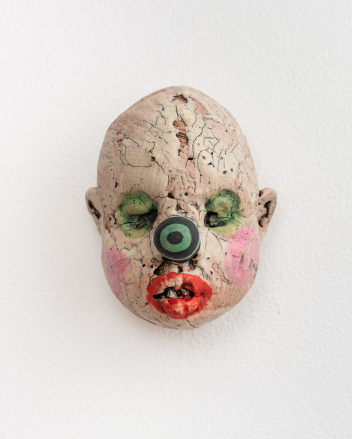 , 'Medium Doll Head, Green & Black Striped Nose,' 2018, Eutectic Gallery