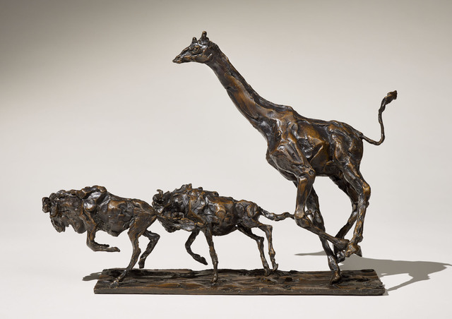 , 'Giraffe and two Wildebeest,' 2016, Sladmore Contemporary