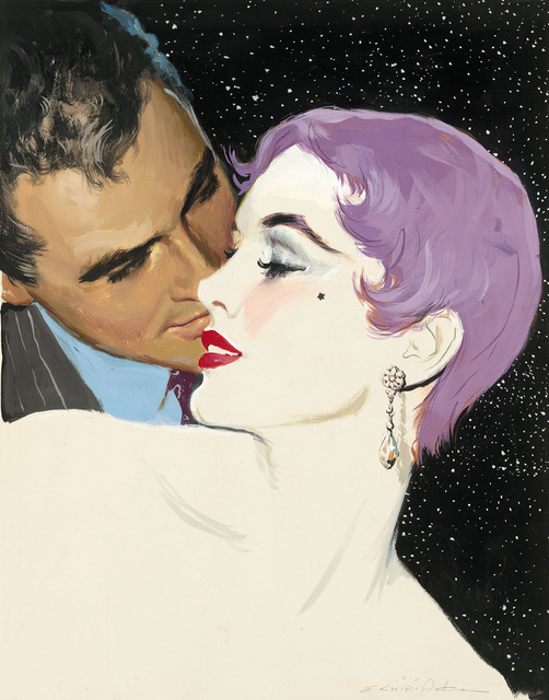 Ernest Chiriacka, 'Illustration-Whisper's at night', 1945-1959, Casweck Galleries