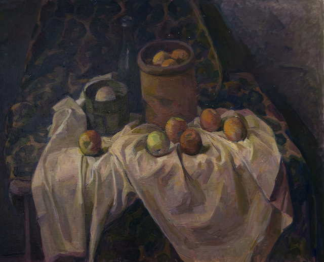 Wilbur Niewald, 'Still Life with Apple and Clay Pot', 2018, Haw Contemporary