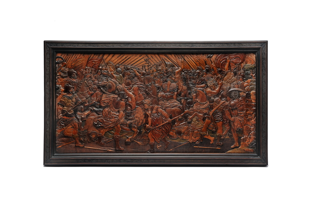 , 'The Battle of the Amazons in Relief Intarsia,' Eger or Dresden-ca 1650, Kunstkammer Georg Laue