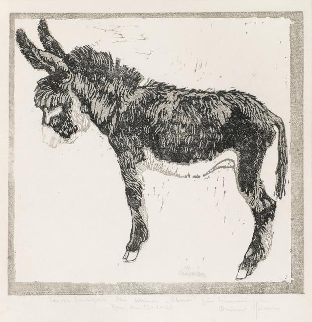 , 'Young Female Donkey,' 1908-1909, Galerie Bei Der Albertina Zetter