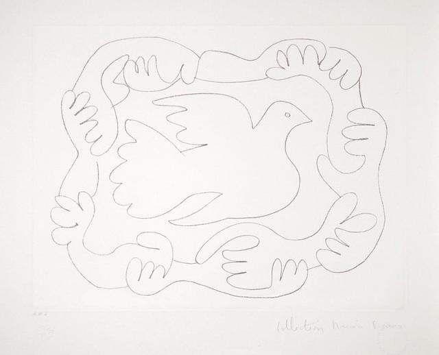Pablo Picasso, 'Etudes de Mains et Colombe, 1952', 1979-1982, Print, Lithograph on Arches Paper, RoGallery