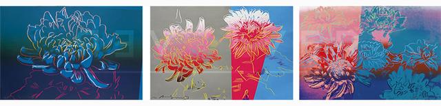 Andy Warhol, 'Kiku Complete Portfolio (FS II.307-309)', 1983, Print, Screenprint on Rives BFK paper., Revolver Gallery
