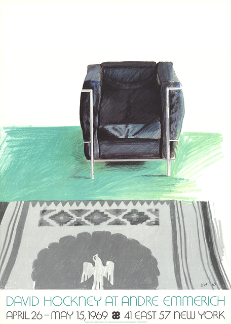 David Hockney, 'Corbusier Chair and Rug (lg)', 1969, ArtWise