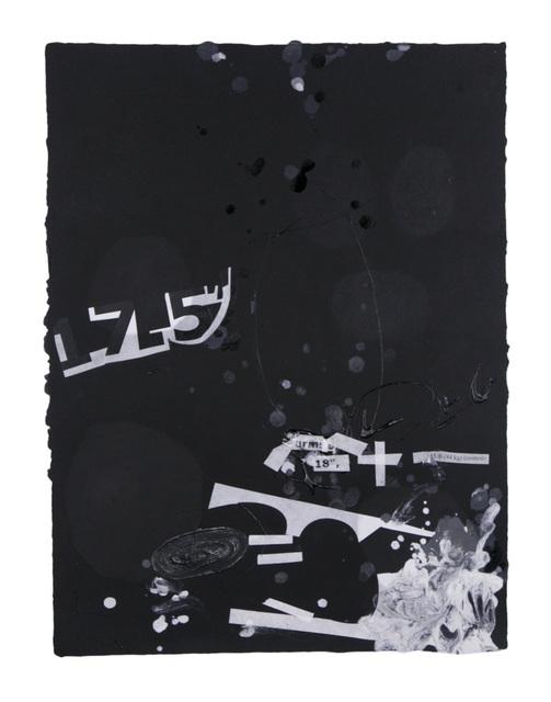 , 'In the Black #1,' 2015, Dieu Donné