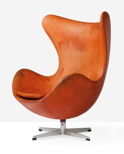 Arne Jacobsen, 'Egg chair', 1958, Design/Decorative Art, Leather, cast aluminum, Aguttes