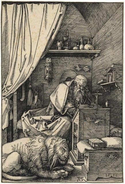 , 'Der heilige Hieronymus in der Zelle – Saint Jerome in his Cell,' 1511, C. G. Boerner