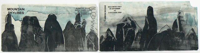 Hamish Fulton, 'Mountain Skylines. Dolomites Italy 2004', 2004, Rhona Hoffman Gallery