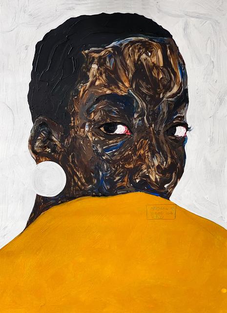 Amoako Boafo, 'Aurore Iradukunda', 2020, Painting, Oil on paper, MoAD Benefit Auction