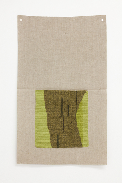 , 'Typewriter drawing, precommencement (lichen-dyed brown-green, yellow-green, dark green),' 2015, Galerie Nordenhake