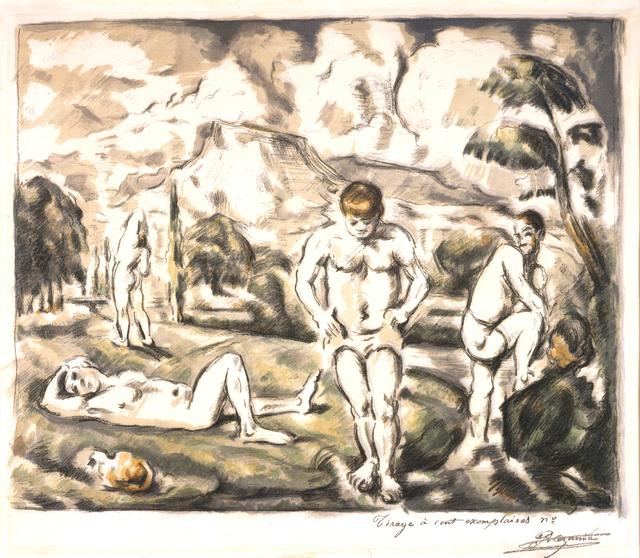 , 'Les Baigneurs (grande planche) (The Large Bathers),' 1896, Blanton Museum of Art