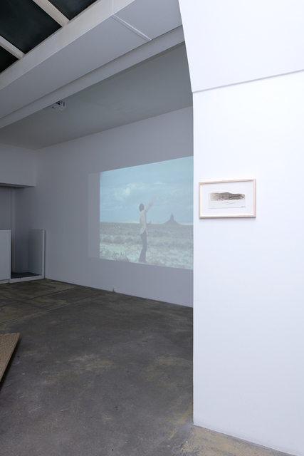 , 'Exhibition view of Kinetic Landscape(s) with Ripped Mountain (photo) and Roping Boar's Tusk (video, 0'19''),' photo : 1974 and video : 1971, GALERIE GEORGES-PHILIPPE ET NATHALIE VALLOIS