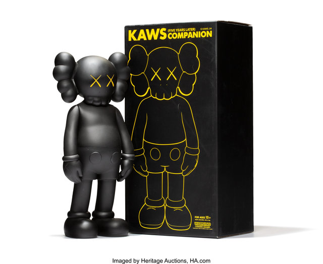 KAWS, '5 Years Later Companion (Black)', 2004, Heritage Auctions