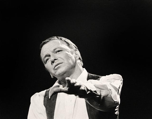 Murray Garrett, 'Sinatra performing at his Budweiser special at N.B.C. TV in 1968', 1968, Robert Berman Gallery