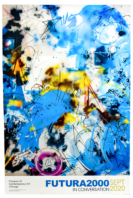 Futura, 'SPORTS IN SPACE WITH AIR FORCE BLUE (Limited Edition Poster) ', 2020, Print, Lithograph in colors on heavy paper with semi gloss finish., Silverback Gallery