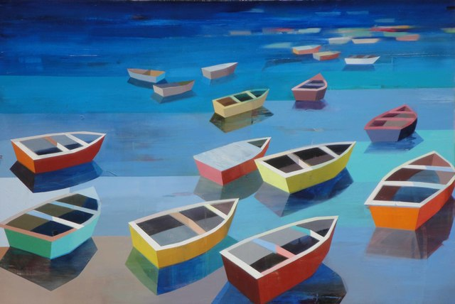 , 'Colorful Boats in the Bay #11,' 2017, Caldwell Snyder Gallery