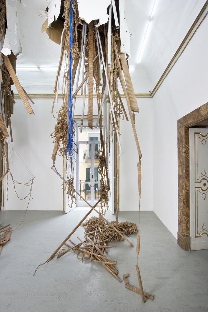 Thomas Hirschhorn - break-through - partial view of the exhibition - April 2013 - Galleria Alfonso Artiaco, Napoli