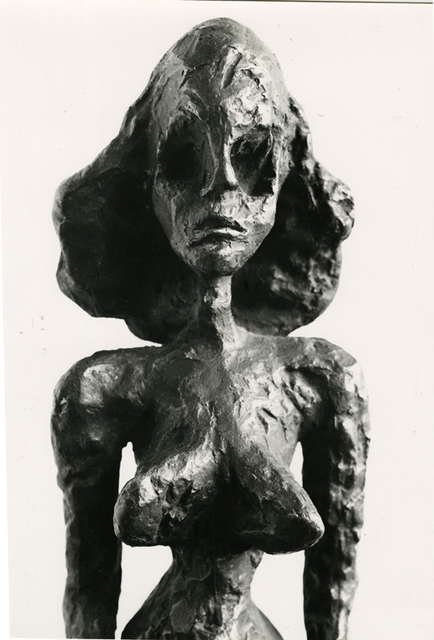 , 'Sculpture of a woman by Giacometti,' 1960, Be-hold