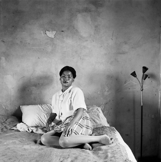 , 'Mrs Miriam Diale in her bedroom, 5357 Orlando East, Soweto,' 1972, Goodman Gallery